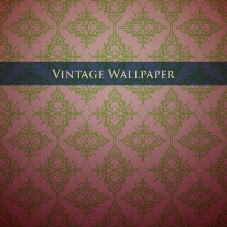 Vintage wallpaper background Vector