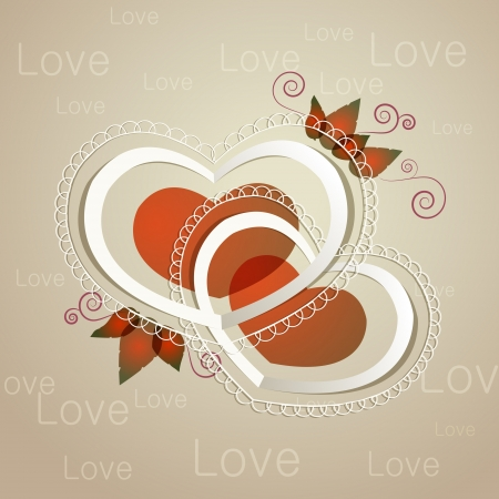 Heart label Stock Vector - 19555948