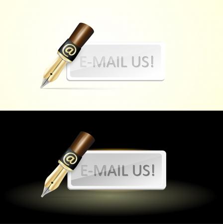 Write e-mail pen Stock Vector - 19592155