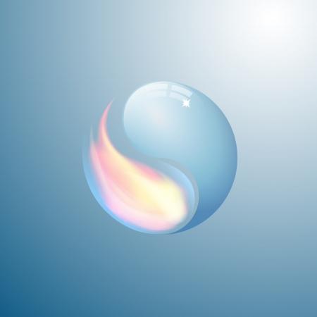 Yin yang symbol from water