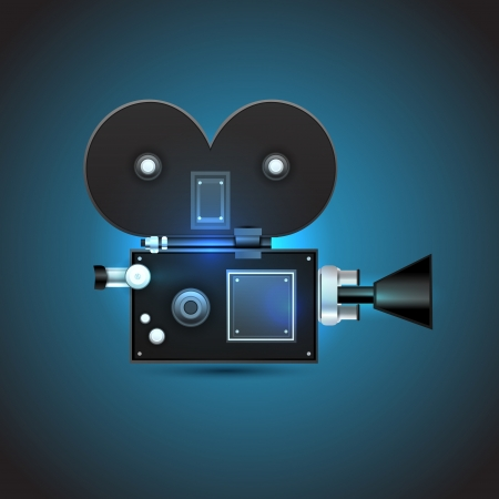 Cinema camera illustration Vector