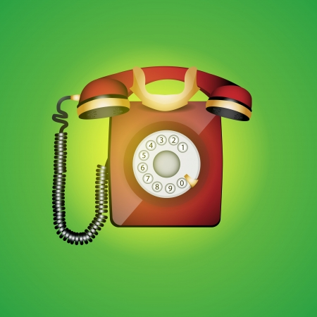 Old phone illustration Stock Vector - 19592162