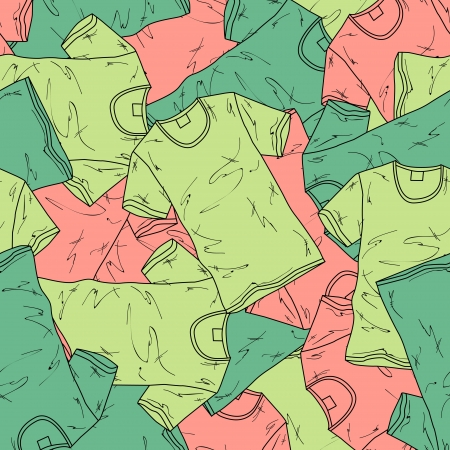 background with different t-shirts. Vector