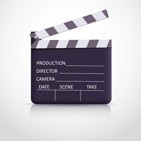 Clapper board on white background Vector