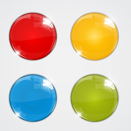 Set of colorful balls on white background Vector