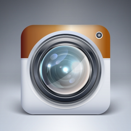 camera application icon Stock Vector - 19592186