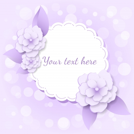 frame with flowers. Vector