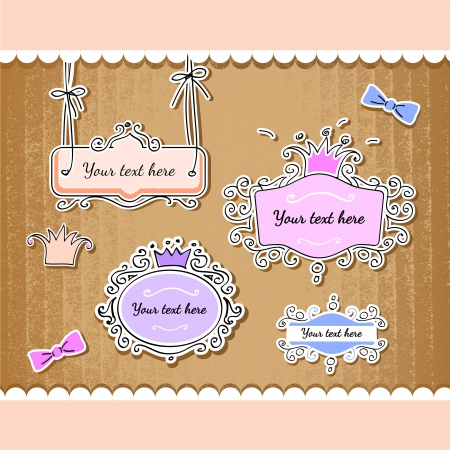set of cute frames  Vector