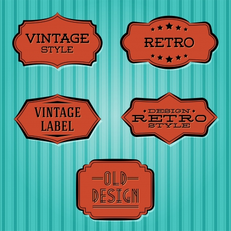 collection - vintage and retro labels Vector