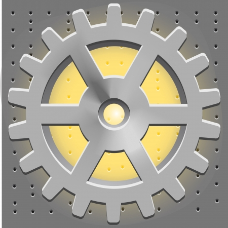 Cogwheel. Gear System Vector