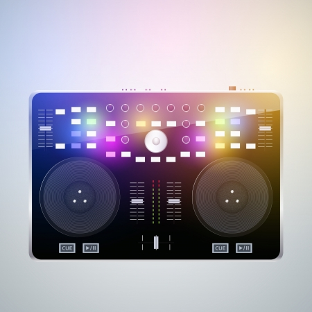 Mixing desk production sound Vector