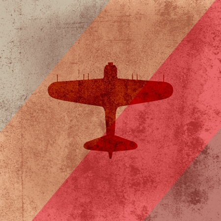 retro airplane on grunge background Stock Vector - 19592221