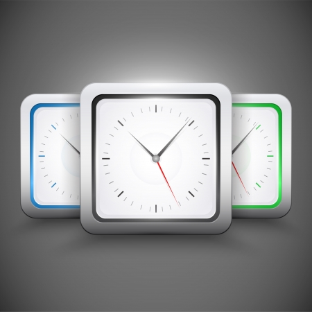 square clocks Vector