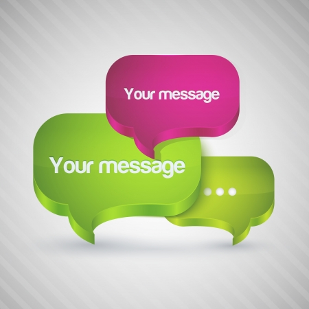 Speech bubbles for your message. Vector