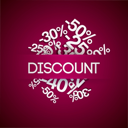 Background with percent discount. Vector