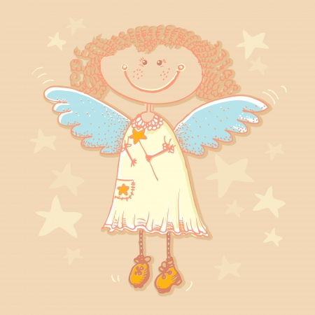 background with angel. Vector