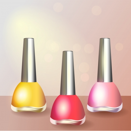 Set of color nail polish Vector
