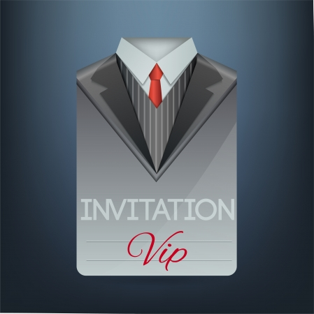 VIP invitation in the form of a suit illustration Vector