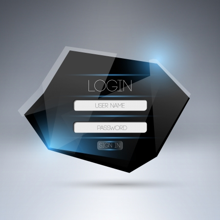 modern login form ui element. Vector