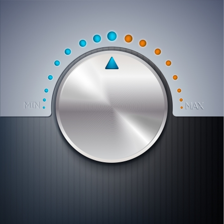 illustration of a volume button. Vector