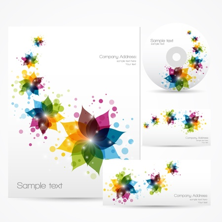 Floral Corporate Template  Vector