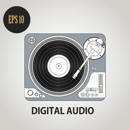 illustration of DJ record player Vector