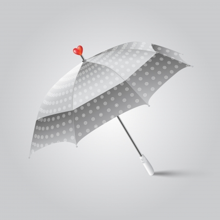Vector illustration of a umbrella with heart. Vector