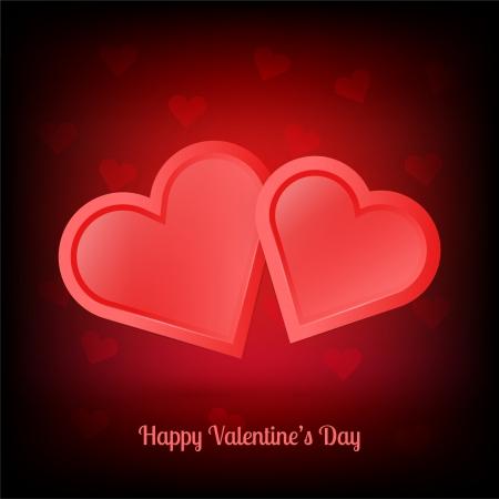 Illustration of pair of valentine heart Stock Vector - 19613356