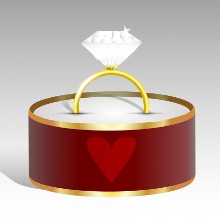 Vector illustration of a diamond ring. Stock Vector - 19613326