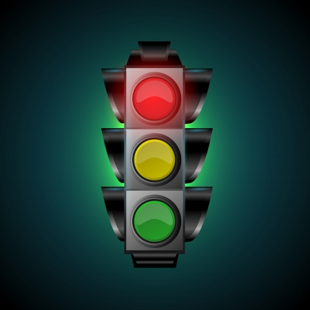 Vector illustration of traffic light Stock Vector - 19613358