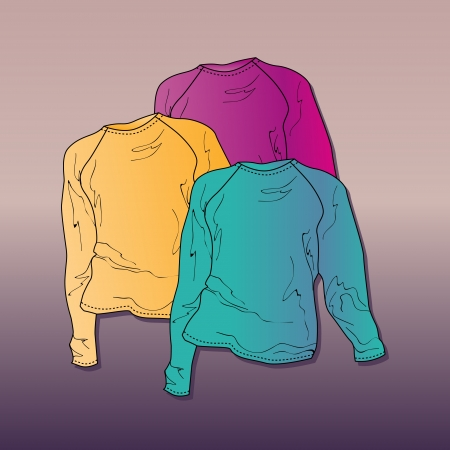 Vector illustration of women's sweaters. Stock Vector - 19613374
