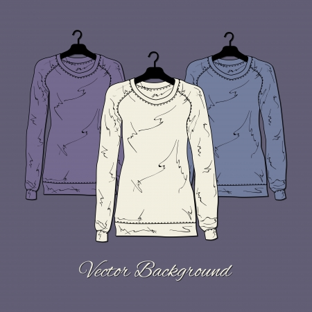 illustration of women's sweaters. Stock Vector - 19613248