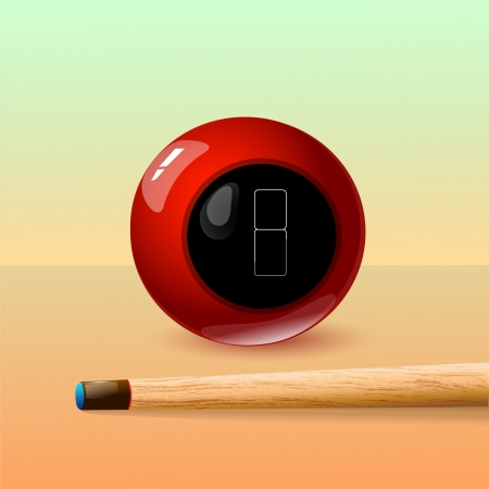 8 Ball and Stick. Vector Drawing Vector