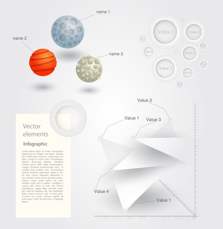 Vector infographic elements Vector