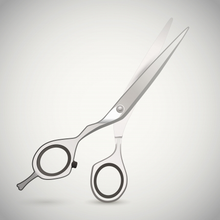 Vector illustration of cutting scissors. Vector