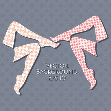 Vector background with female legs. Vector