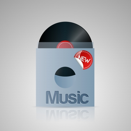 Vector illustration of music disc. Stock Vector - 19643418