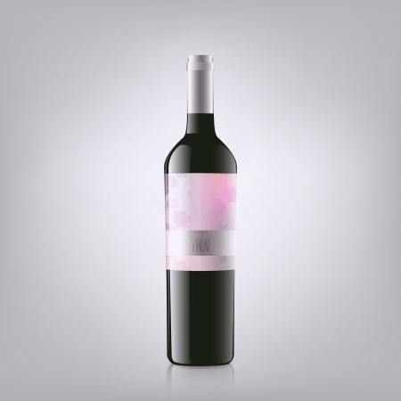 Wine Bottle. Vector Illustration Vector
