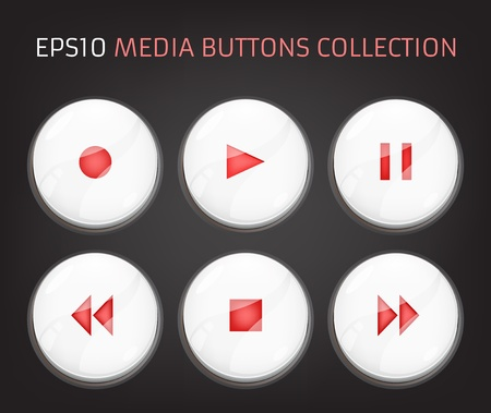 Web Elements: Buttons, Switchers, Player, Audio Stock Vector - 19643267