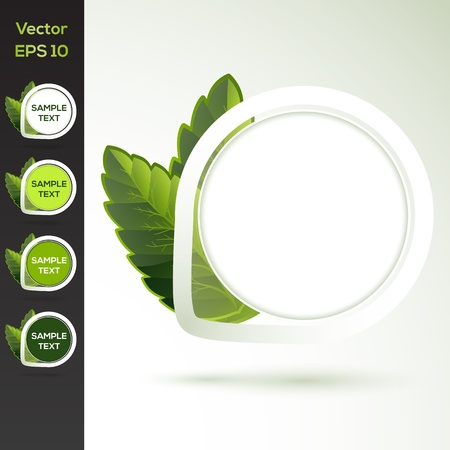 Set of vector round floral banners Vector