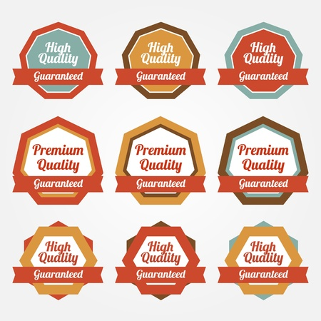 Set of vector stickers, badges, labels Vector