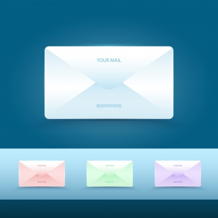 Set of vector email icons Vector