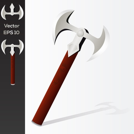 Vector battle axe Stock Vector - 19643457
