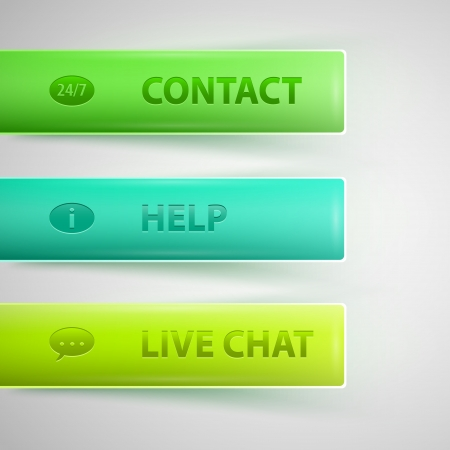 Live Help Signs (Customer support symbols for web) Vector