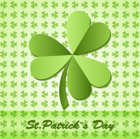 Shamrock, clover design, for St. Patrick's Day. Stock Vector - 19706428
