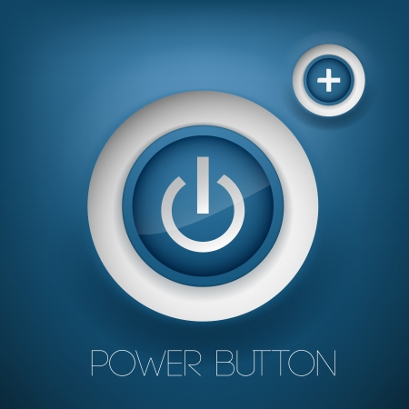 Vector power button. Vector