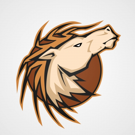 The stylized head of a horse. Vector Vector