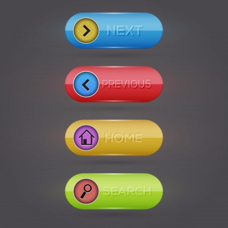 Web buttons. Vector. Vector