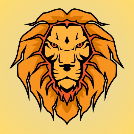Head of a lion, vector illustration Vector