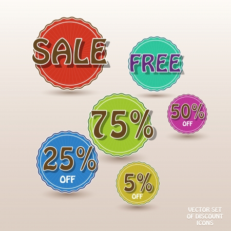 Set of vector sale labels Vector
